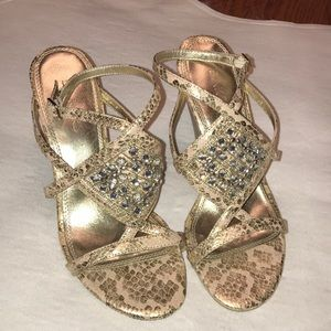 BAKERS gold and nude sandals